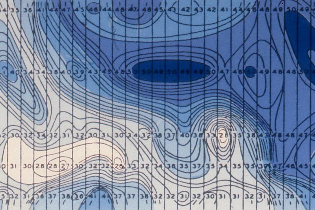 Isotachs of storm winds, courtesy of the Boundary Layer Wind Tunnel Laboratory, University of Western Ontario