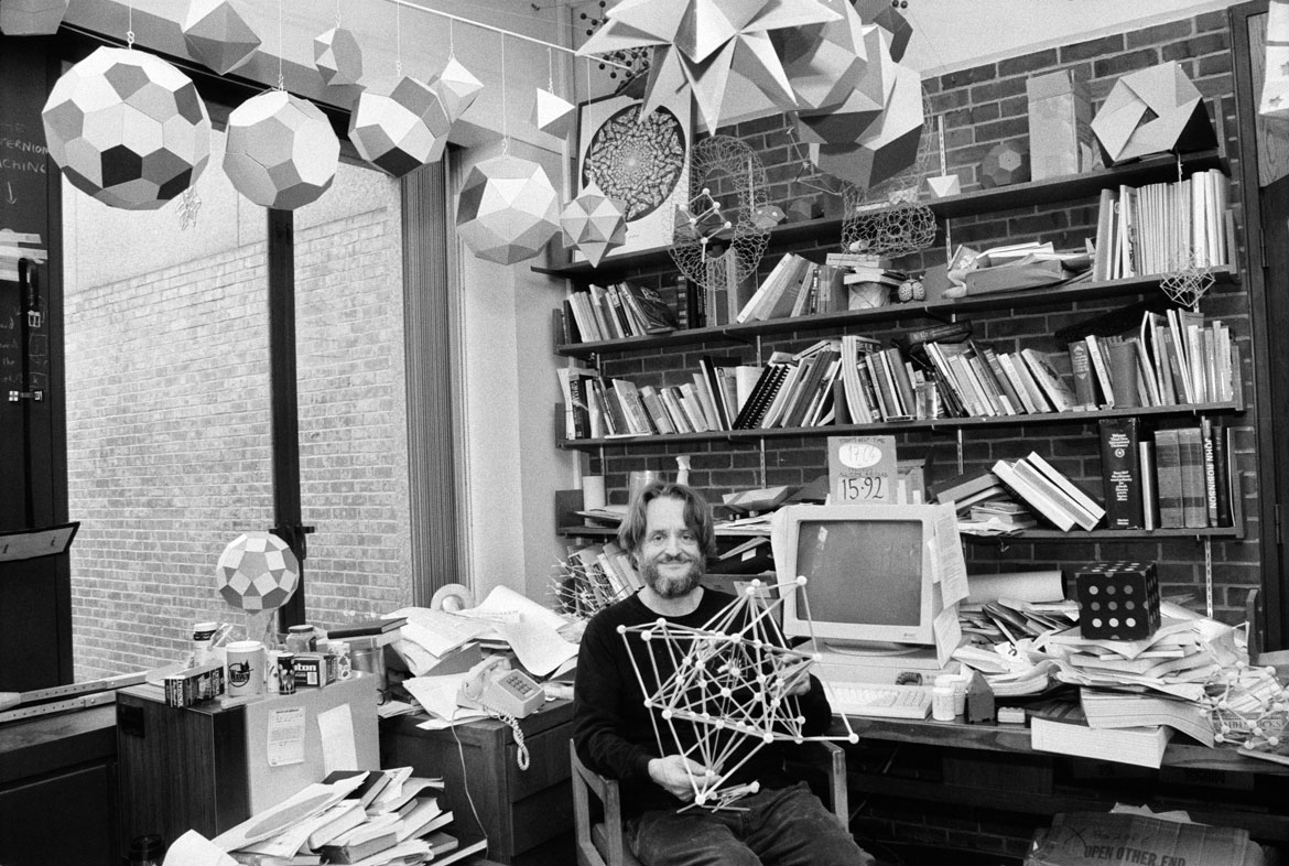 Conway in his Princeton office, 1993. Photo by Dith Pran/The New York Times.